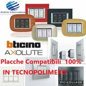 Placche COMPATIBILI 100% BTICINO AXOLUTE in TECNOPOLIMERO