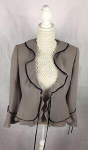 taglia Smart Vintage Blazer Donna Occasion 07 10 Frank Black Giacca Grey Usher wq0wB