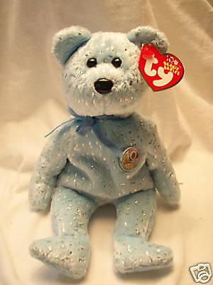 Ty Beanie Babies Blue Decade Bear Retired New