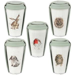 Wrendale-Owl-Hare-Hedgehog-Rabbit-Cat-Robin-Mouse-China-Travel-Mug