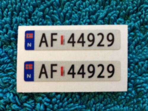 1//14  RC car truck COLOUR sticker REFLECTIVE EUROPE number plates 1pair