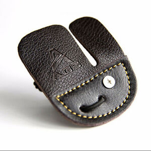 Practical Finger Guard Tab Protective PU Leather Archery Shooting Gadgets Shan
