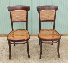Ancienne paire de chaises Thonet bois courbé @+