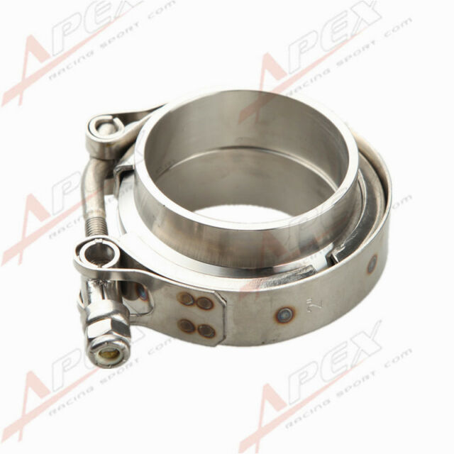 """2.75"""" V-Band Vband Clamp CNC Stainless Steel Flange Flanges Kit Turbo Downpipe"""