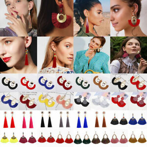 Fashion-Jewelry-Women-Bohemian-Long-Fringe-Boho-Dangle-Tassel-Ear-Stud-Earrings
