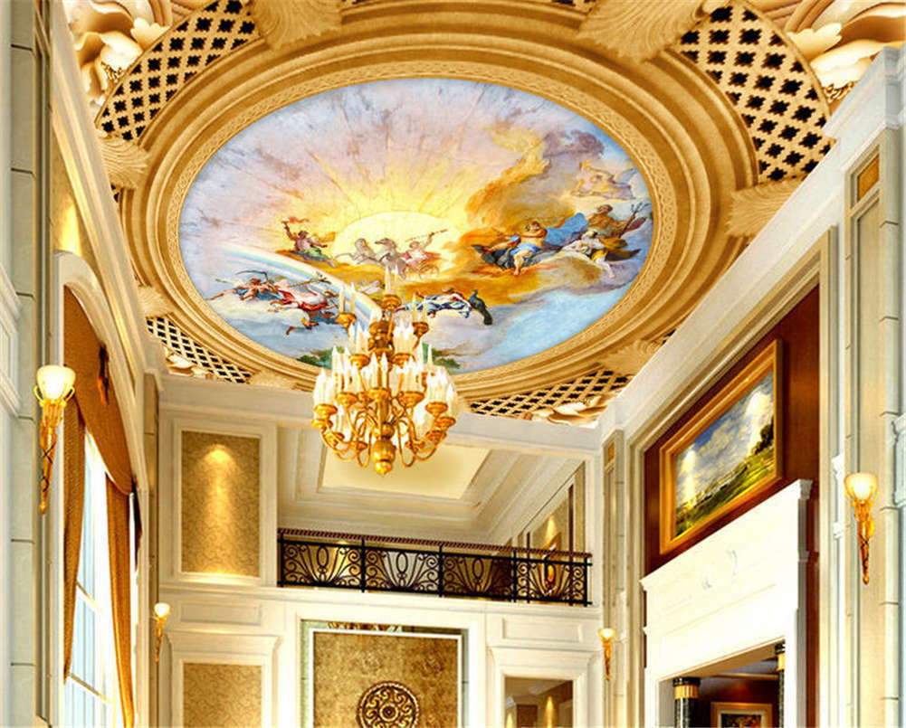 Rich Cunning Picture 3D Ceiling Mural Full Wall Photo Wallpaper Print Home Decor