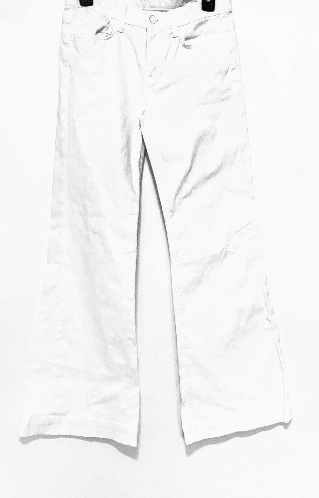 7 For All  Mankind Ginger Flare Jeans White Sz 26 Cotton Summer