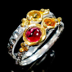 Fine-Art-Natural-Rhodolite-925-Sterling-Silver-Ring-Size-6-75-R105785
