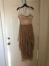 Sherri Hill Nude High-low prom dress/Size 6/Strapless/Straps also included