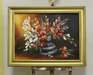 Painting-Flowers-Handmade-Oil-Painting-Picture-Oil-Frame-Pictures-G95779