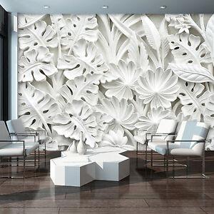 VLIES-Fototapeten-Fototapete-Tapete-Foto-3D-Abstraktion-Weiss-Blumen-10052-VE