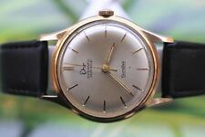Gran Muy Grande Grueso Chapado en Oro Mech/Auto Swiss EHR nivaflex Reloj 25 joyas!