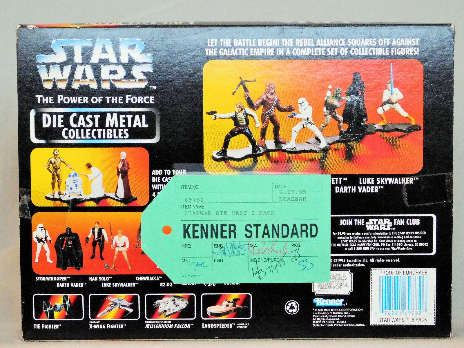 Star Wars POTF2 Die-Cast 6 Pk KENNER STANDARD Final QC Pre-Production Predotype