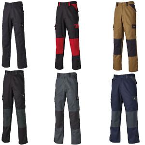 Dickies ED24//7 Pantalones de trabajo Hombre Khaki//Black 44