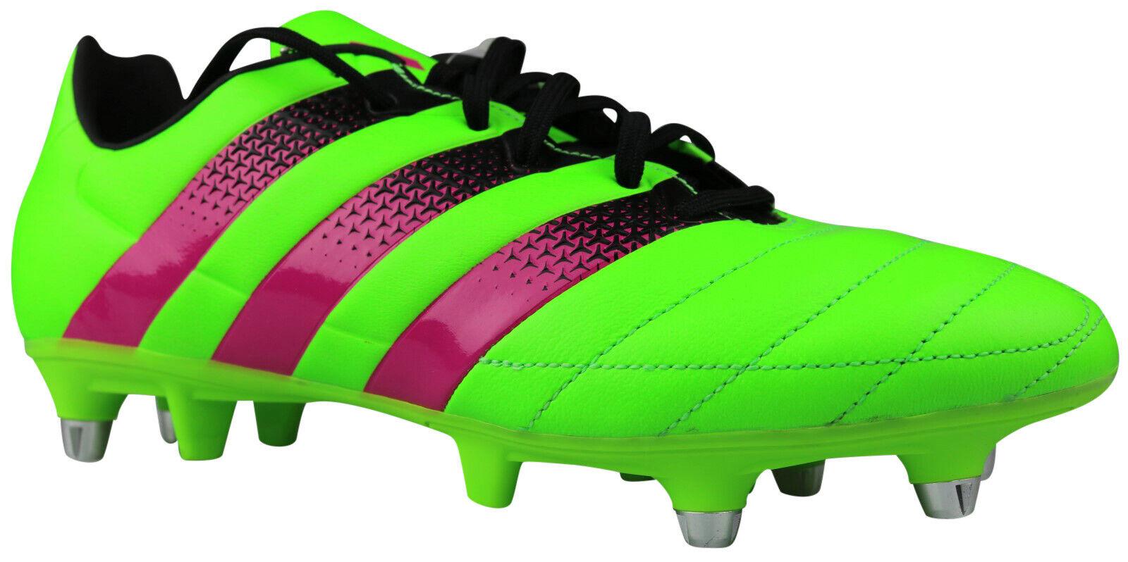 Adidas Ace 16.3 sg botas de fútbol de cuero galerías verde s75736 talla 40 & 42 nuevo & OVP