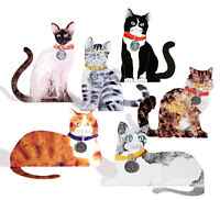 36 Die-cut 3D Cat Cards with 8 Alternative Greetings on Cats Identity Disk
