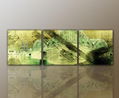 WANDBILD modernes Bild Köln ABSTRAKT Wohnzimmer DESIGNBILDER 160x50cm
