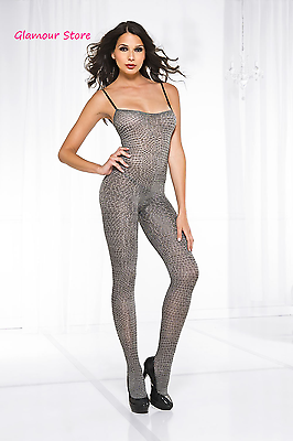 Abbigliamento E Accessori Donna: Abbigliamento Sexy Catsuit Pitonata Bodystocking Taglia Unica Tutina Intima Lingerie Glamour An Enriches And Nutrient For The Liver And Kidney