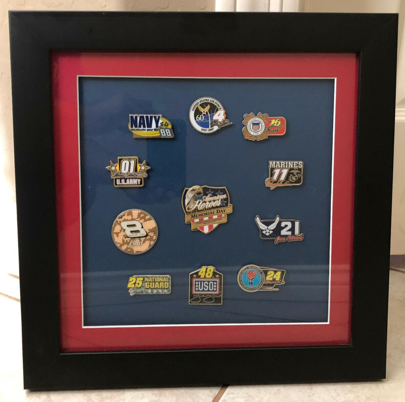 2007 Nascar American héroes 11 piezas Conjunto de Pin Dale Jr Jeff Gordon Jimmie Johnson