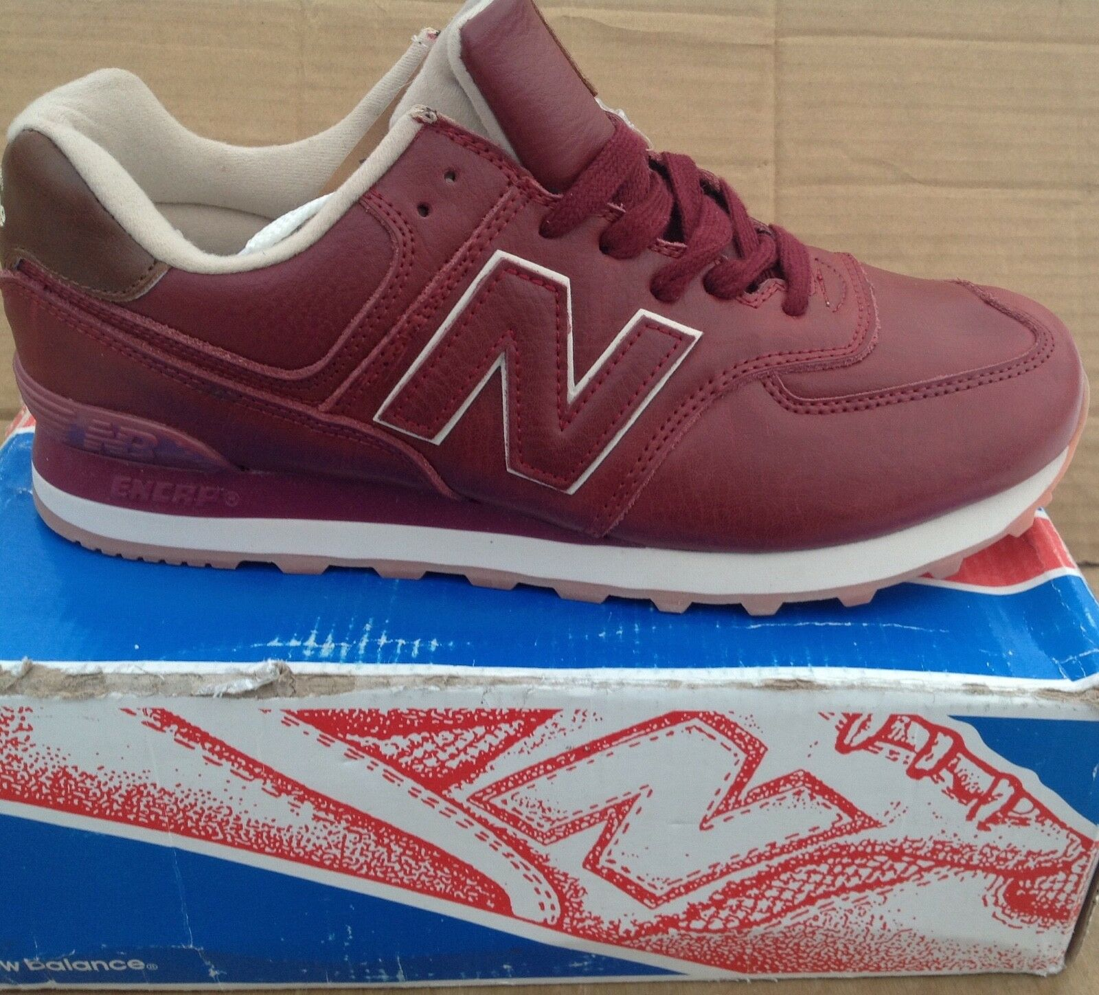 New Balance 574 Red brown .EU 46, USA 9.5 .Natural Leather