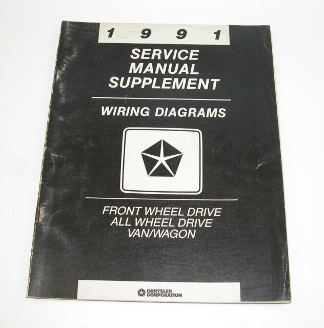 1991 Chrysler Dodge Van  Wagon Service Manual Supplement Wiring Diagrams Fwd Awd