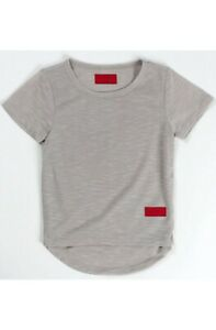 Haus-Of-Jr-Youth-Miller-Inset-Tee-Gray-Kids-Short-Sleeve-T-shirts-All-Sizes
