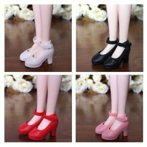 Lovoski-4-Pairs-1-6-Doll-Plastic-High-Heels-Shoes-for-Blythe-Licca-Doll