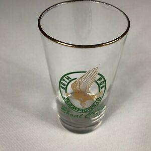 Shoal Creek Glass VTG 1984 Golf Drink 66th PGA Championship 80s Clear Green Gold