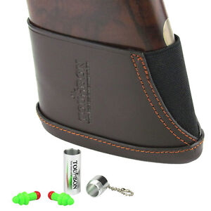Tourbon-Ear-Plugs-Hearing-Protection-Leather-Recoils-Pad-Slip-on-Range-Shooting