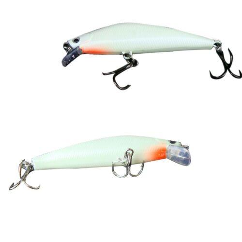 3D Luminous Bait Night Fishing Minnow Lure Artificial Hard Bait Lure Hook Tackle