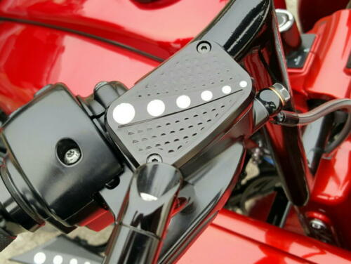 Chrome-E-O Front Brake Master Cylinder Cover Harley Touring 2008-2018  Black CC