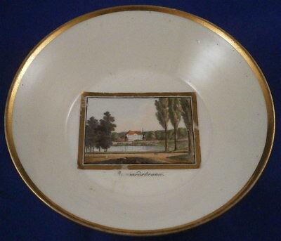 Cups & Saucers Ceramics & Porcelain Obedient Nice Antique Gotha Porcelain Polychrome Scenic Saucer Porzellan Untertasse Scene