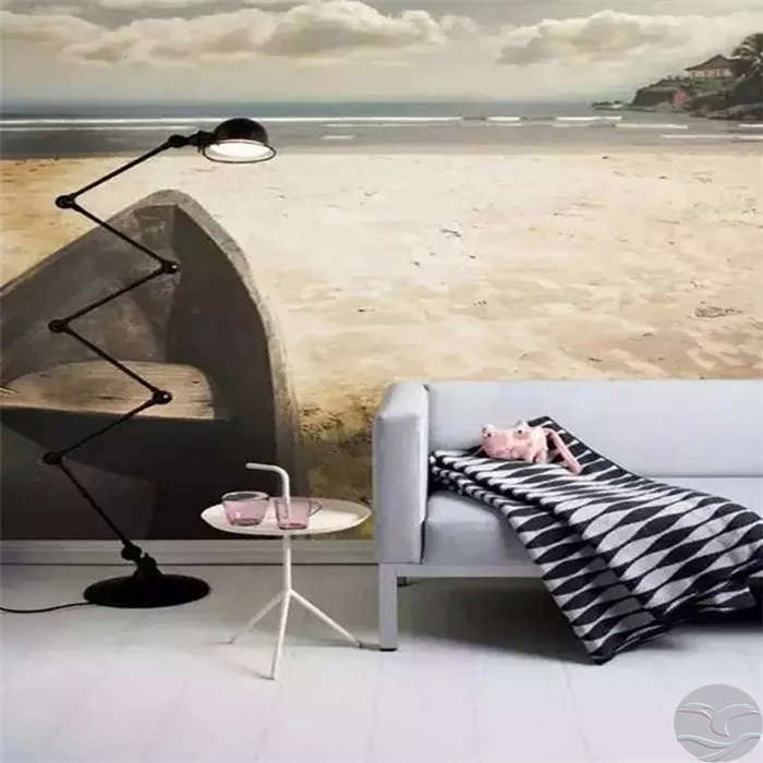 Small Boat On The Sand Full Wall Mural Photo Wallpaper Print Home Kids 3D Decal