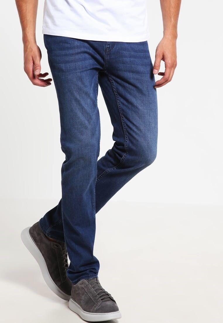 NWT Hugo Boss Mens Maine_1 Regular Fit 030 Jeans Stretch Dark bluee Wash 34 36 38