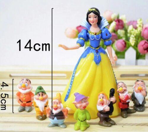Lot de 8 figurines Blanche Neige et les 7 nains NEUVES