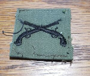 US Army Officer General Staff Branch cloth patch OD Green /& Black
