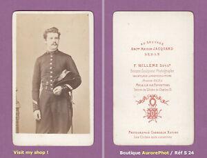 CDV-WILLEME-a-SEDAN-MILITAIRE-OFFICIER-POLYTECHNIQUE-VERS-1875-BICORNE-S24