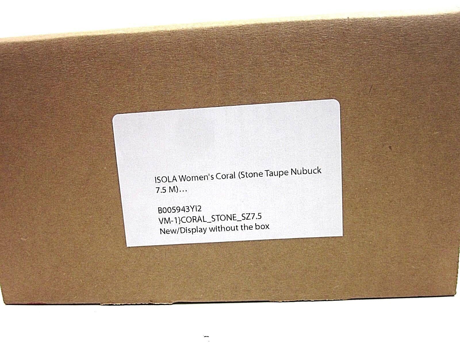 ISOLA CORAL PUMP damen STONE TAUPE NUBUCK 7.5M US Größe 7.5M NUBUCK NEW WITHOUT BOX f68d72