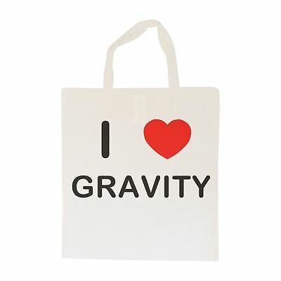 I Love Gravity - Cotton Bag | Size choice Tote, Shopper or Sling