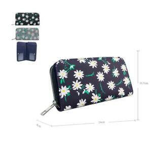 Women-039-s-Designer-Style-Daisy-Print-Design-Ladies-Long-Purse-Wallet