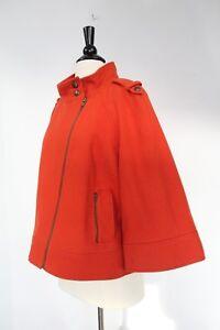 Chic Boutique Wool Beskåret Jacket Wide Tribal Trend Womens Sz Coat 8 Sleeve Moto 0xg7qw8B