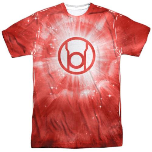 Green Lantern RED LANTERN ENERGY 1-Sided Sublimated Big Print Poly T-Shirt