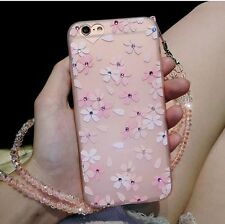 iPhone 7 Plus Case Silicone Case With The Chains Fashion Show Bling Bling Flower