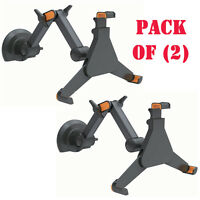 Pack Of (2) Universal Wall Mount Tablet Holder Adjustable /extendable Arms Ipad