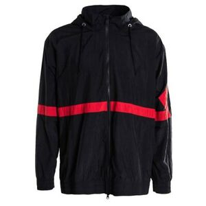 online retailer 958d0 c3a2e Image is loading Jordan-Diamond-Track-Jacket-Black-Red-Nylon-AQ2683-