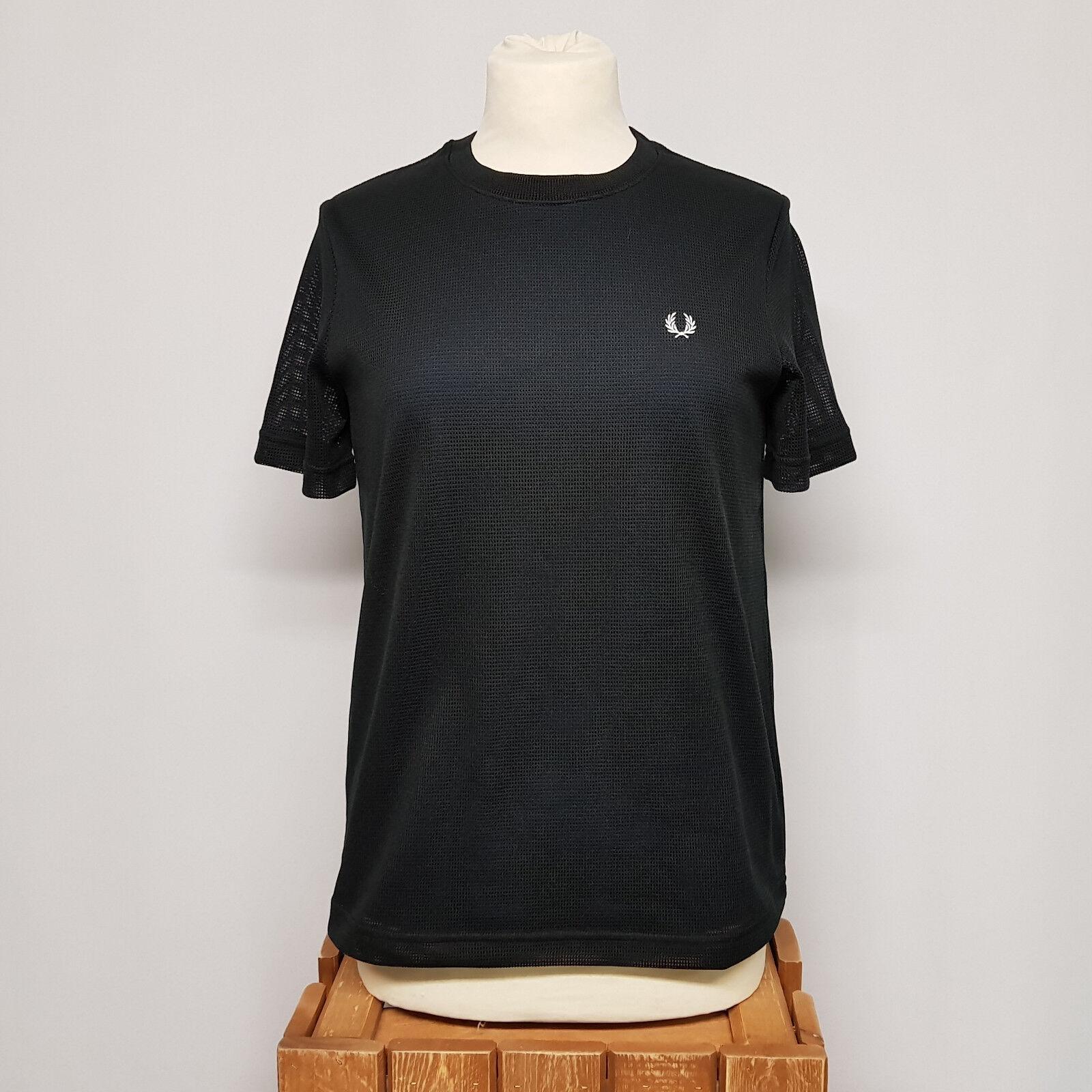 Frot Perry Girls Mesh Overlay T-Shirt Medieval Blau G2144-126 Damen Shirt blau