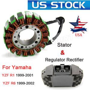 12V Regulator Rectifier Stator Coil Kit For Yamaha YZF R1 1999-2001 R6 1999-2002