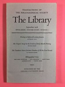 The-LIBRARY-The-Bibliographical-Society-Fifth-Series-Vol-XXXIII-No-3-Sept-1978
