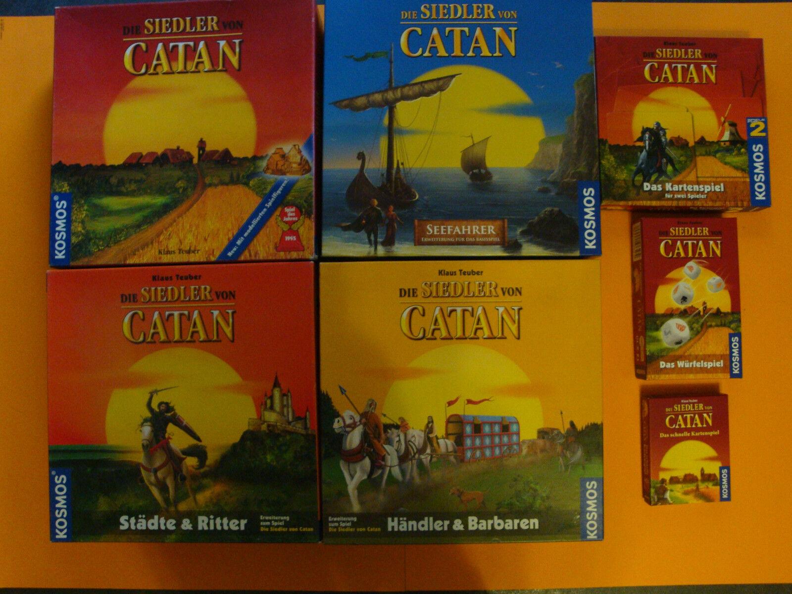 I Coloni di Catan la raccolta con carte & würfelsp.  modellata Gioco Personaggi
