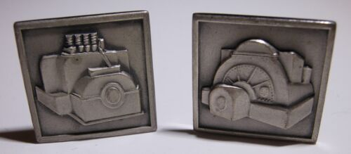 Sterling General Electric Cufflink Pair - GE Elect